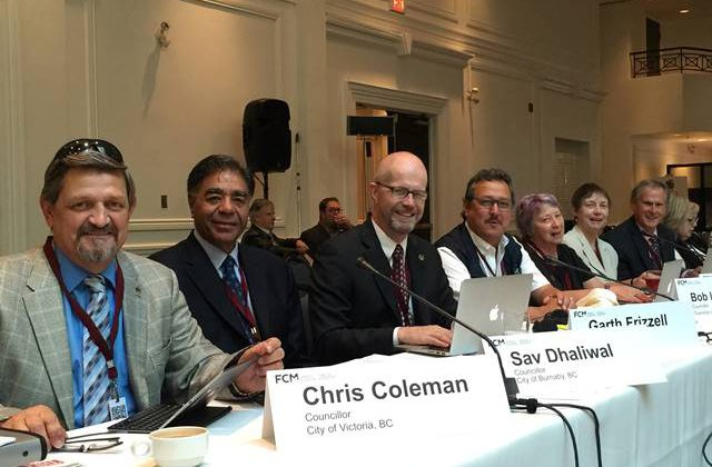Silverton's Leah Main is seen third from right  at the Federation of Canadian Municipalities board meeting in Oakville, Ont. this month.